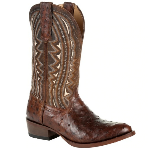 Men's Premium Full Quill Ostrich R-Toe Cowboy Boot by Durango DDB0277