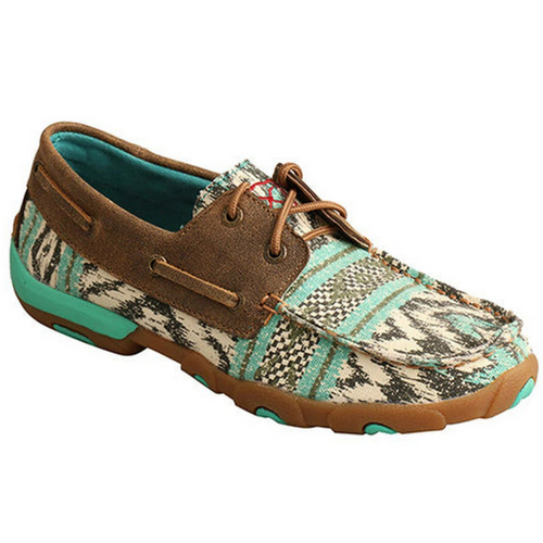Women's Aztec Serape Boat Shoe Driving Moc by Twisted X WDM0133