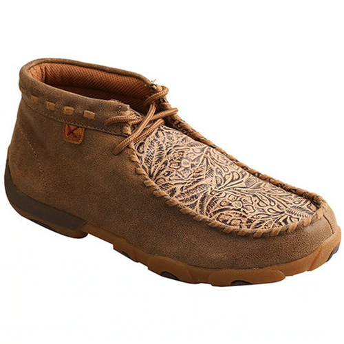 Women's Floral Embossed Chukka Driving Moc by Twisted X WDM0080