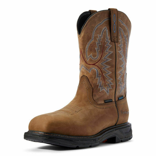 Men's Workhog XT Square Toe H2O CT Brown by Ariat 10031483