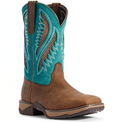 Women's Anthem VentTek Chocolate Chip and Turquoise Boot by Ariat 10031665