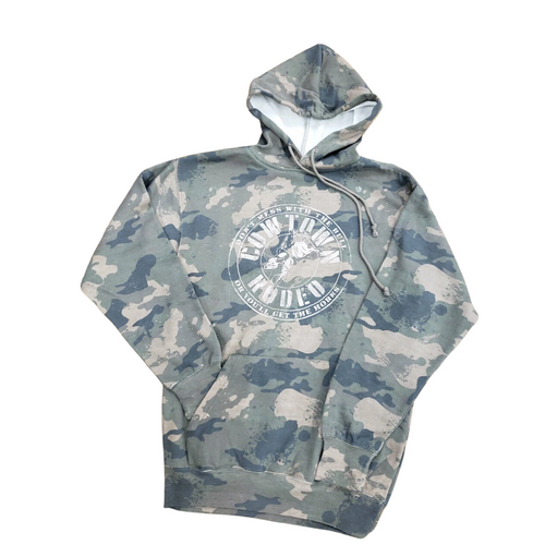 Cowtown Rodeo Camo Hooded Sweatshirt by MV Sport 1290