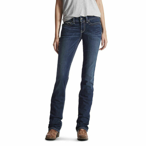 Women's R.E.A.L. Mid Rise Stretch Straight Leg Jean by Ariat 10017216