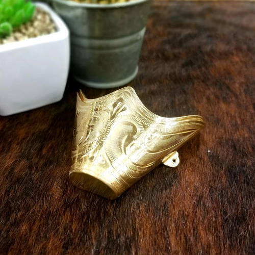 Gold Engraved Boot Tip AC22