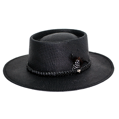 Lara Straw Resort Hat by Peter Grimm PGF1714-BLK-O