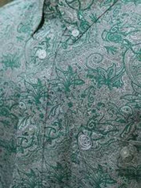 *CLEARANCE* Men's Emerald Paisley George Strait Western Shirt by Wrangler MGSG738