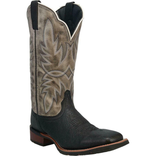 CLEARANCE Men's Isaac Black Embroidered Leather Boot By Laredo 7910