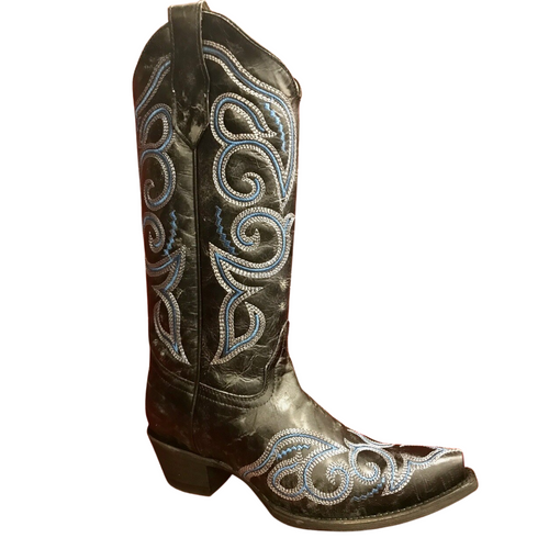 *Blowout!*  Women's Blue Embroidered Western Boot by Corral Circle G L5534