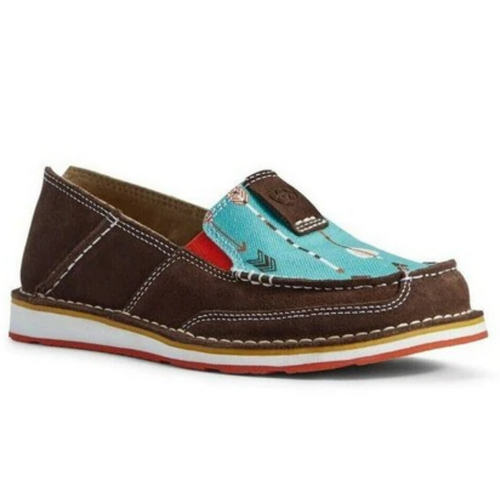 Women's Cruiser Chocolate with Turquoise Arrows by Ariat 10031605