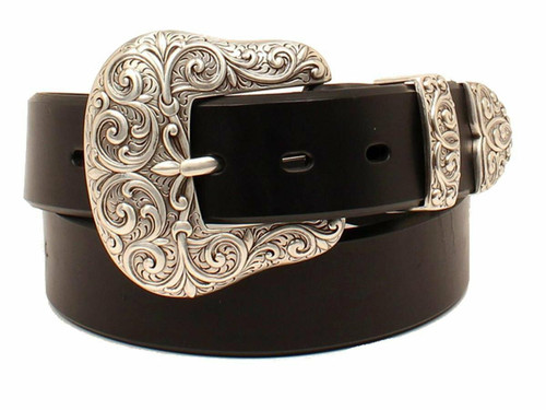 Women's Ariat 3 Piece Buckle Set Leather Belt A1523201