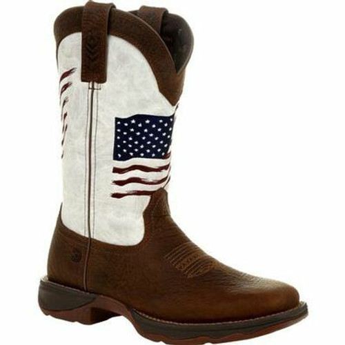 Lady Rebel By Durango Women's Distressed Flag Embroidery Western Boot DRD0394