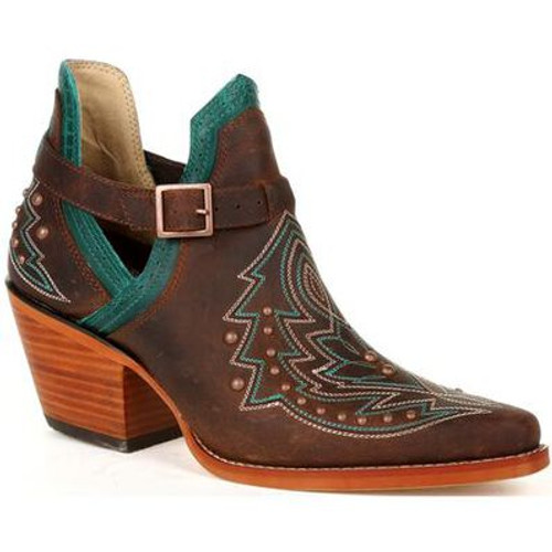Crush By Durango Women's Brown Studded Western Fashion Bootie DRD0404