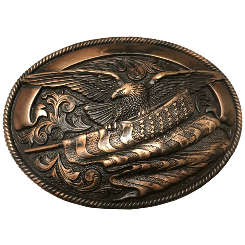 Copper American Eagle Buckle by Nocona 37024