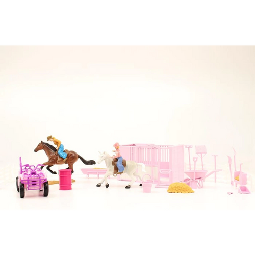 Bigtime Rodeo Stall and ATV Pink Play Set by M&F Western 50820