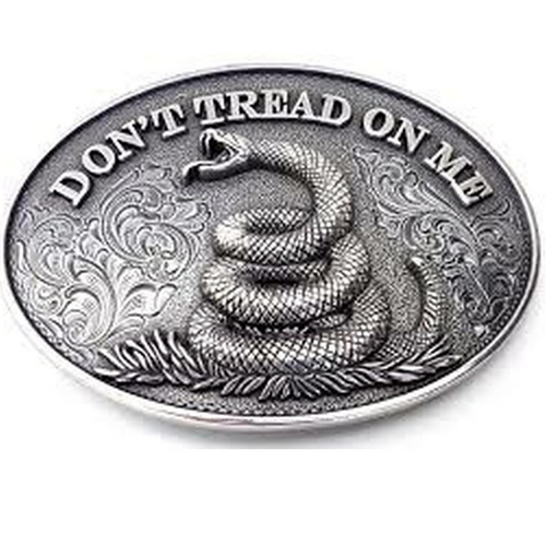 Don't Tread on Me Oval Belt Buckle by M&F 37109
