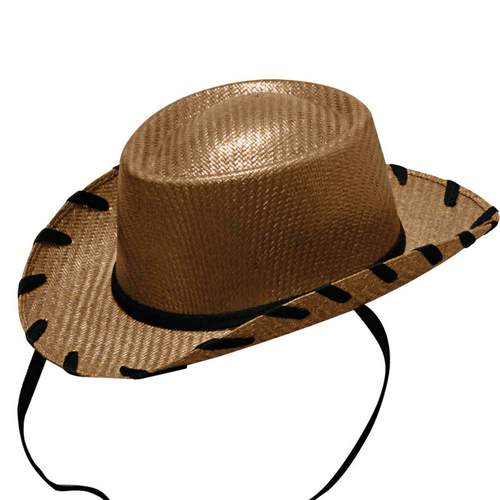 Children's Twister Style Brown Woody Western Hat By M&F T7120637