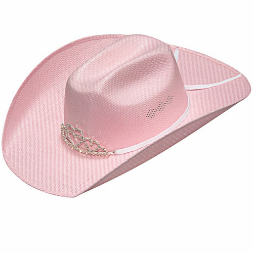 Girl's Light Pink Tiara Western Hat By M&F T7130130