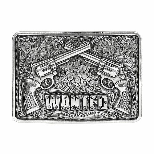 Wanted Double Pistol Buckle by M&F Western 37656