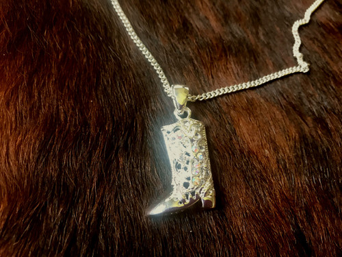 Crystal Boot Necklace and Earrings Set  DEN1100
