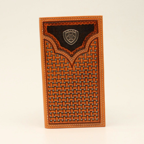 Ariat Rodeo Basket Weave Wallet A3540548
