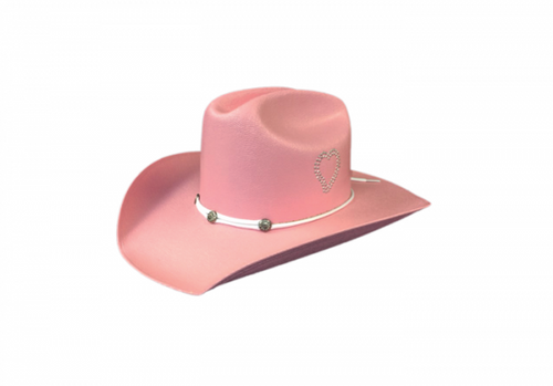 Children's Pink Straw Western Hat