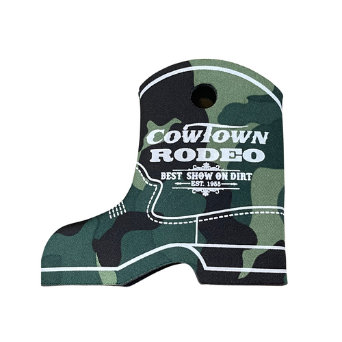 Cowtown Rodeo Camo Boot Coozie X3012-CA