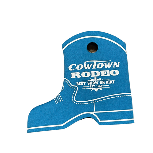 Cowtown Rodeo Teal Boot Coozie X3012-TE