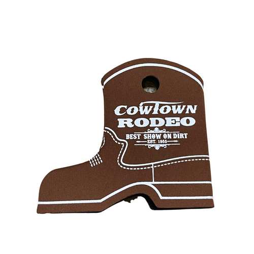 Cowtown Rodeo Brown Boot Coozie X3012-BR