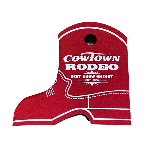 Cowtown Rodeo Red Boot Coozie  X3012-RE