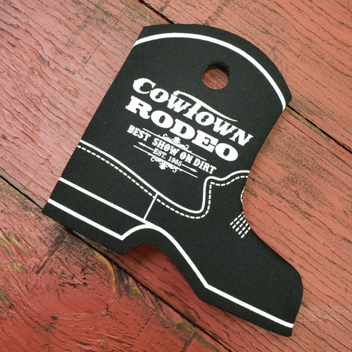 Cowtown Rodeo Black Boot Coozie By Real Time Products X3012-BL