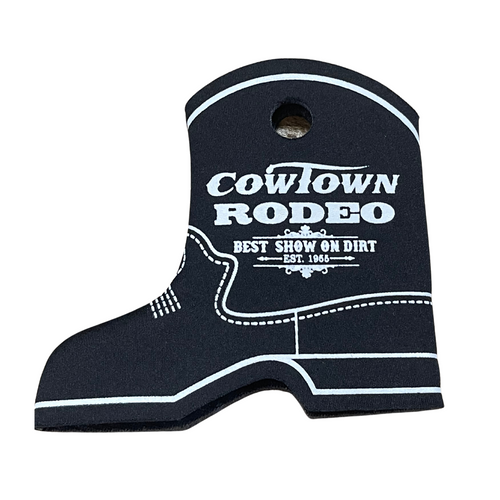 Cowtown Rodeo Black Boot Coozie X3012-BL