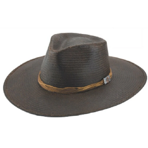 Riverview Town Distressed Black Straw Hat By Bullhide 5039