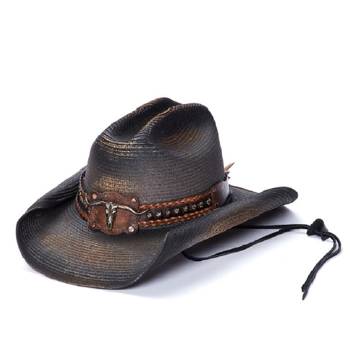 Western Stampede Dude Wrangler Straw Hat by California Hat Co CA-1-2044