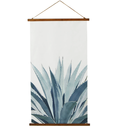 Rolled Canvas Succulent Aloe Wall Decor Spindle 168482-1
