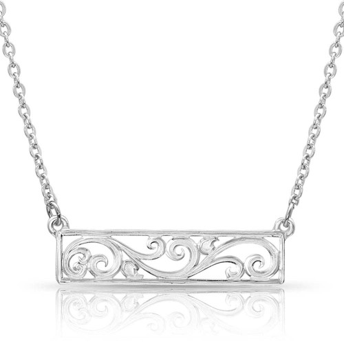 Women's Scroll Bar Necklace By Montana Silversmith NC2283