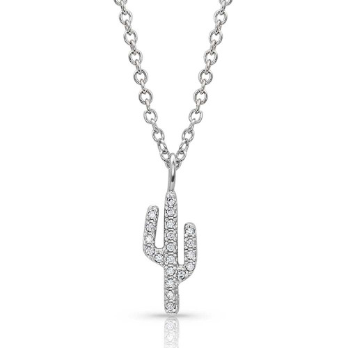 Women's Petite Cactus Necklace By Montana Silversmith NC4573