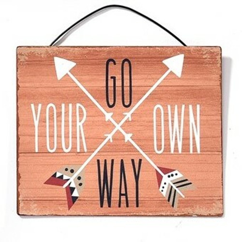 Go Your Own Way Metal Hanging Sign By Giftcraft Inc. 714431-3