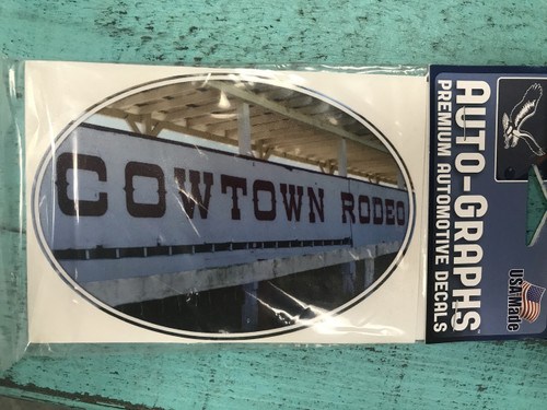 Cowtown Rodeo Decal
