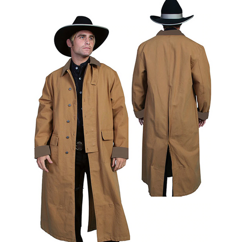 Men's Classic Authentic Canvas Duster By Scully RW107