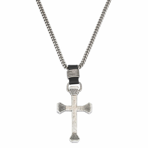 Men's Rugged Cross Necklace by Montana Silversmith NC61509