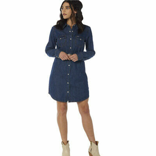 Women's Denim Shirt Dress by Wrangler LWD709D