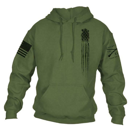 Men's Beast Flag Hoodie Military Green by Grunt Style GS3594