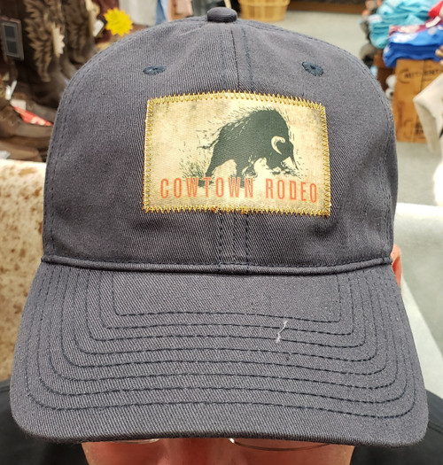 Cowtown Rodeo Bull Patch Baseball Cap By MV Sport GB210-L10287