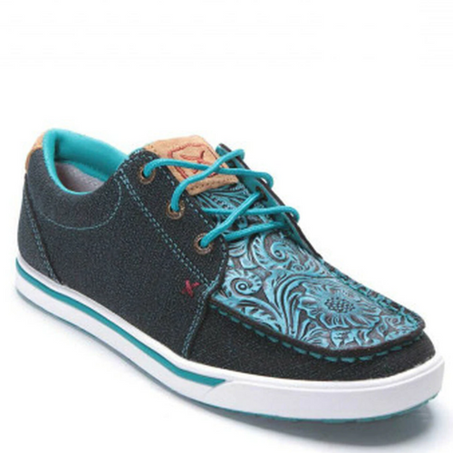 Women's Dark Teal Kicks Casual Shoe By Twisted X WCA0031