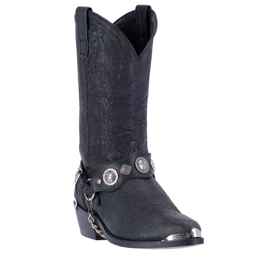 Men's Suiter Black Concho Leather Boot By Dingo DI02175