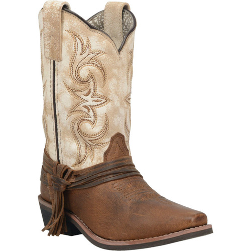 Girl's Lil' Myra Two Toned Cowgirl Boots By Laredo DPC3911