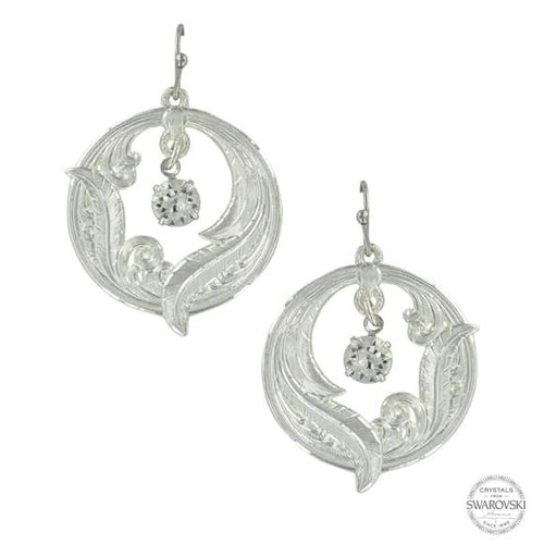 Circle Of Feathers Earrings by Montana Silversmith ER3442CZ