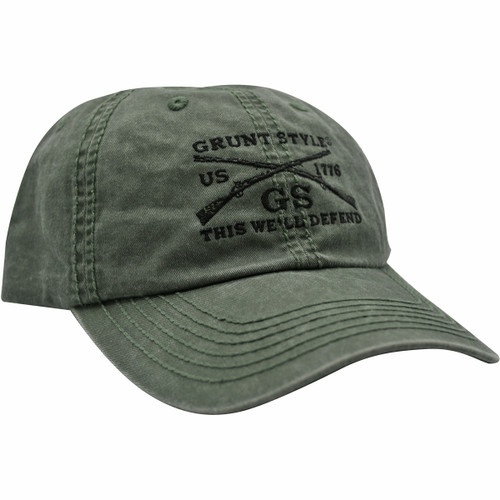 Vintage OD Green Hat by Grunt Style GS3170