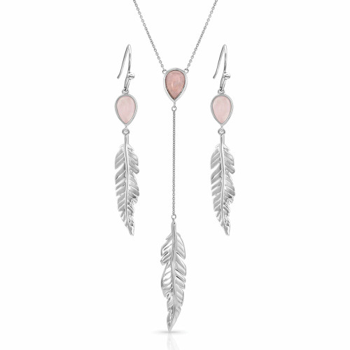 Dreamy Rose Feather Jewelry Set by Montana Silversmiths JS4643