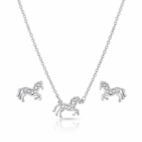 All the Pretty Horses Jewelry Set by Montana Silversmiths JS4735